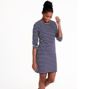 Fitted Crew-Neck Jersey Tee Dress